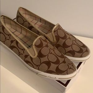 Coach Signature Gold/Khaki Shoes